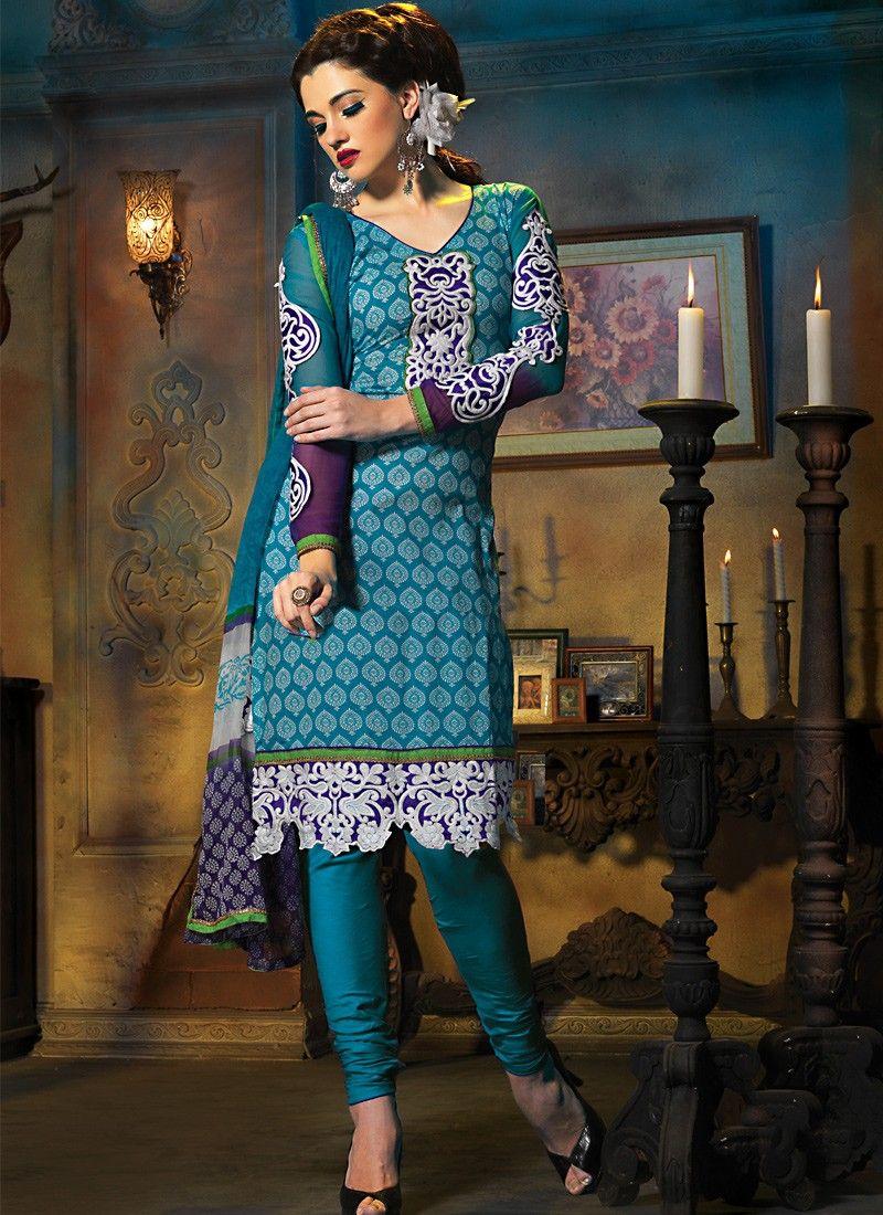 Luscious Deep Blue Salwar Kameez