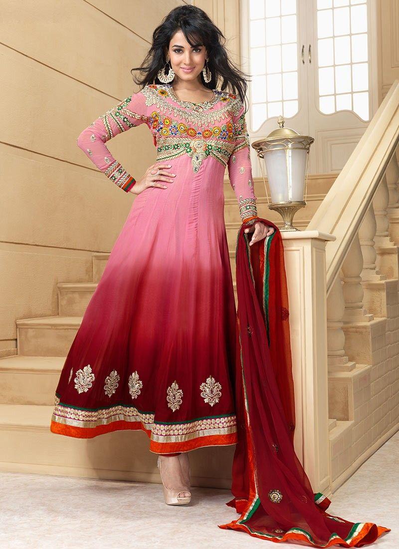 Luscious Deep Pink & Pink Salwar Kameez