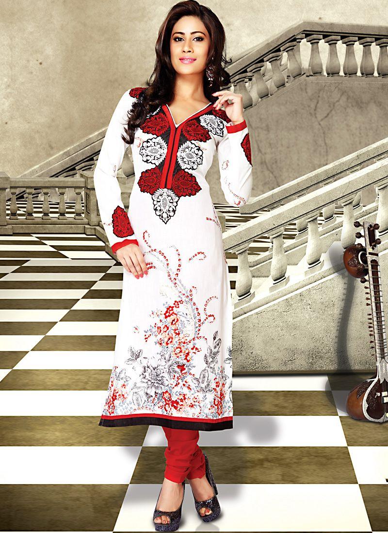 Luscious White Salwar Kameez
