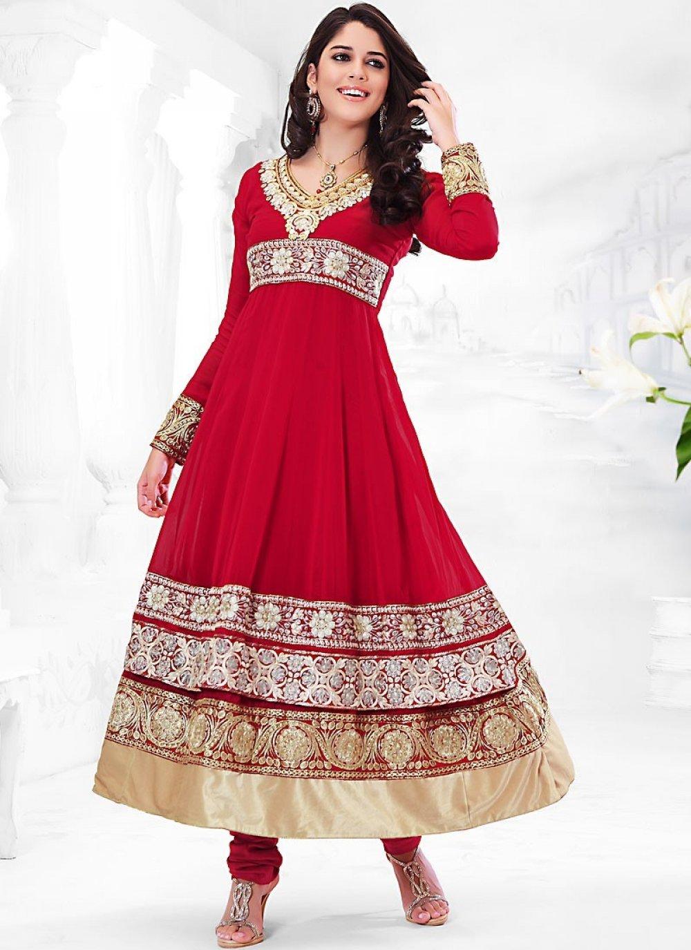 Lush Red Salwar Kameez