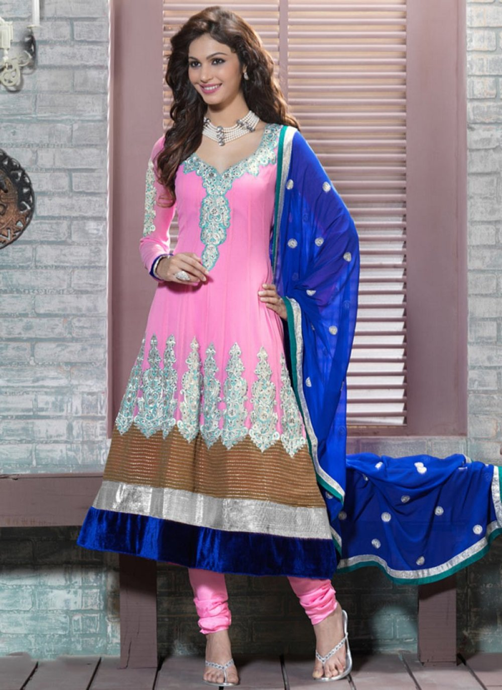 Lush Rose Pink Anarkali Suit