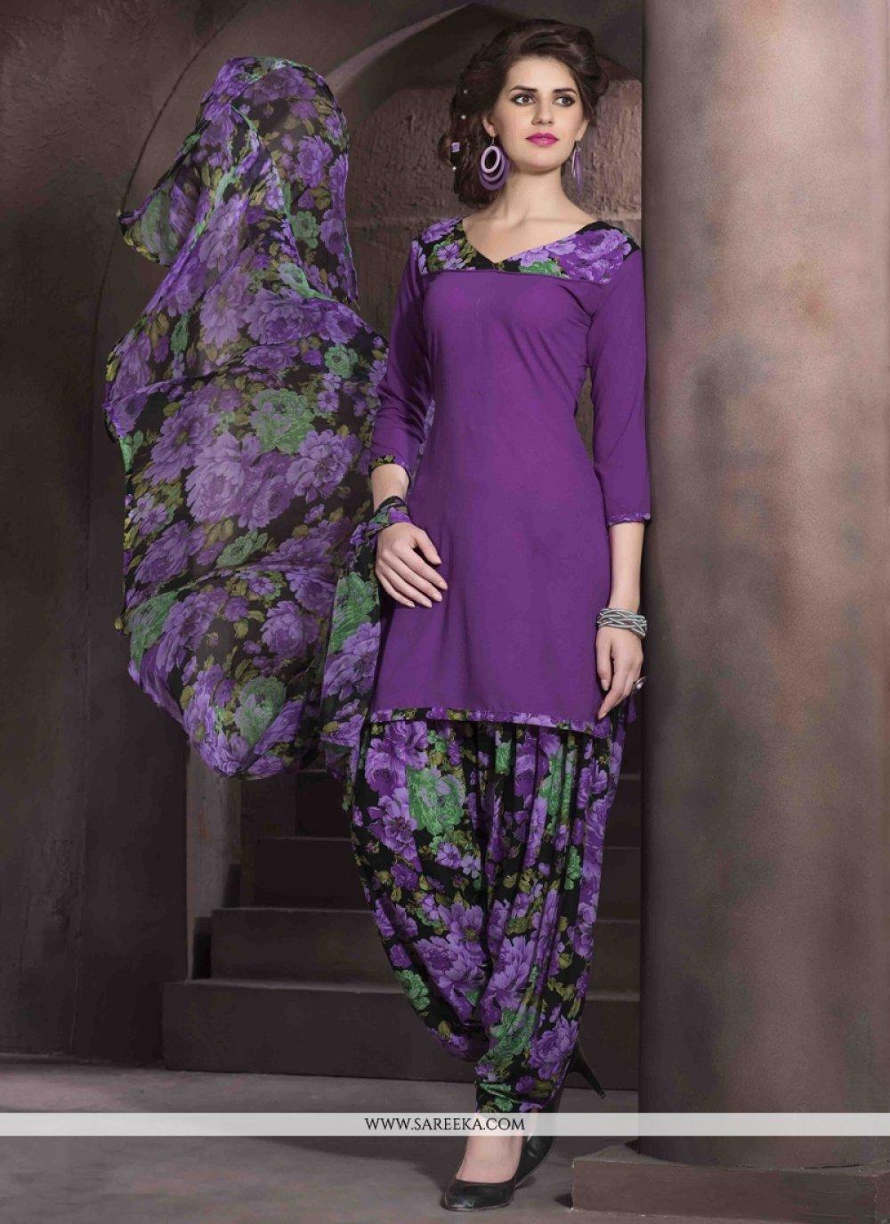 Lustre Faux Crepe Designer Patiala Salwar Kameez