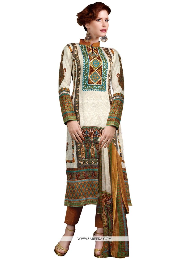Lustre Multi Colour Designer Suit
