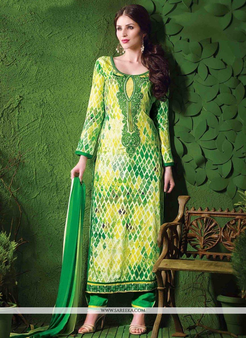 Luxurious Cotton   Embroidered Work Designer Salwar Suit