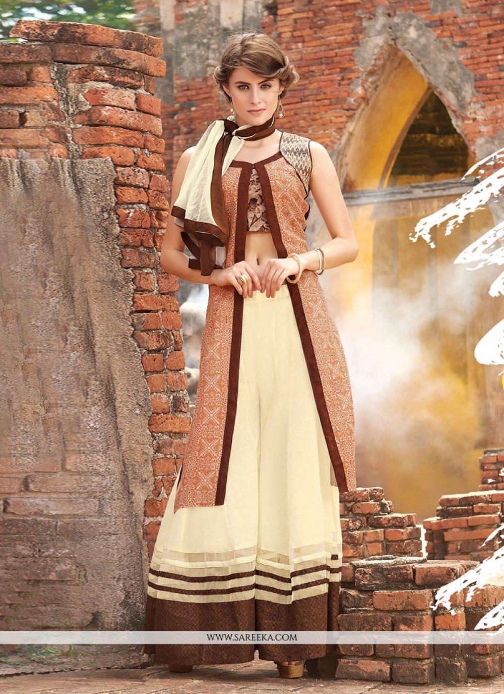 Luxurious Resham Work Designer Palazzo Suit