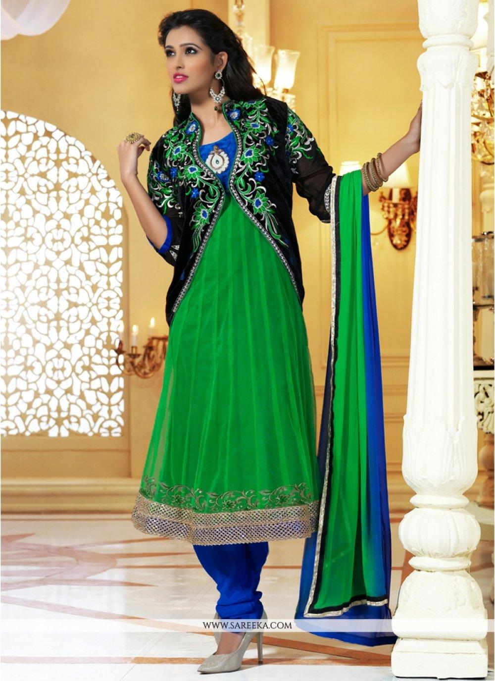 Magical Green Net Anarkali Salwar Suit