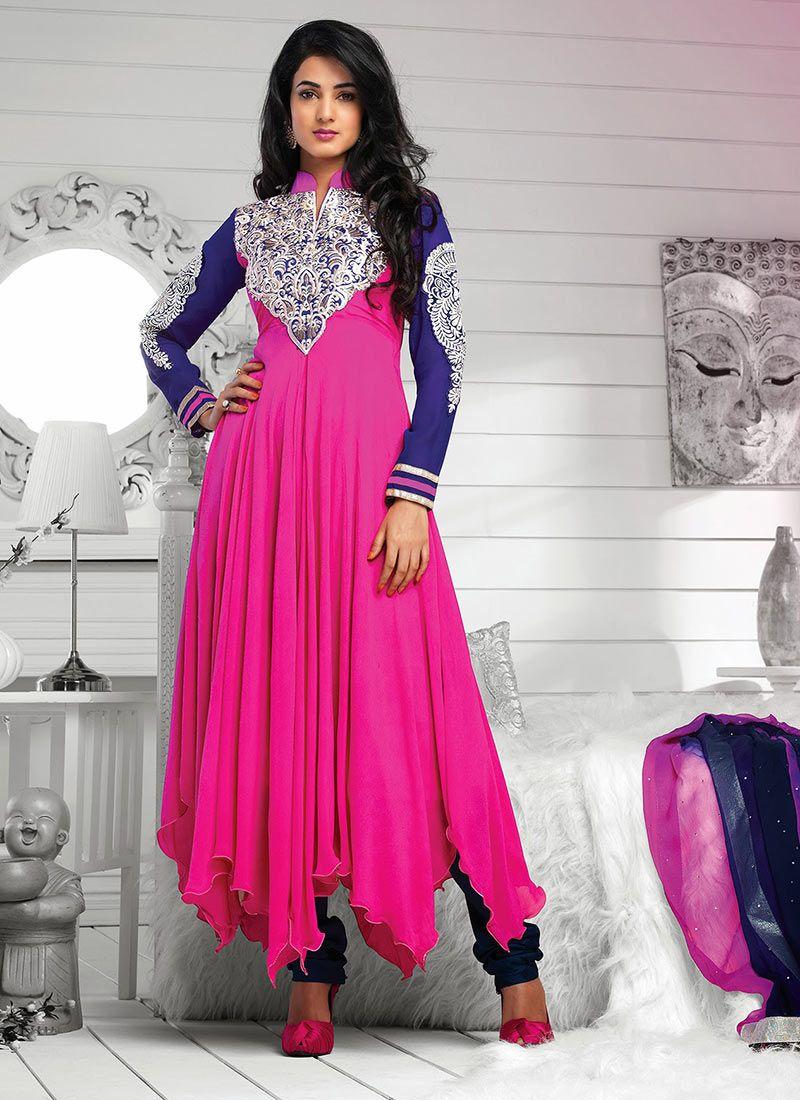 Magnificant Pure Georgette Stylish Anarkali Suit