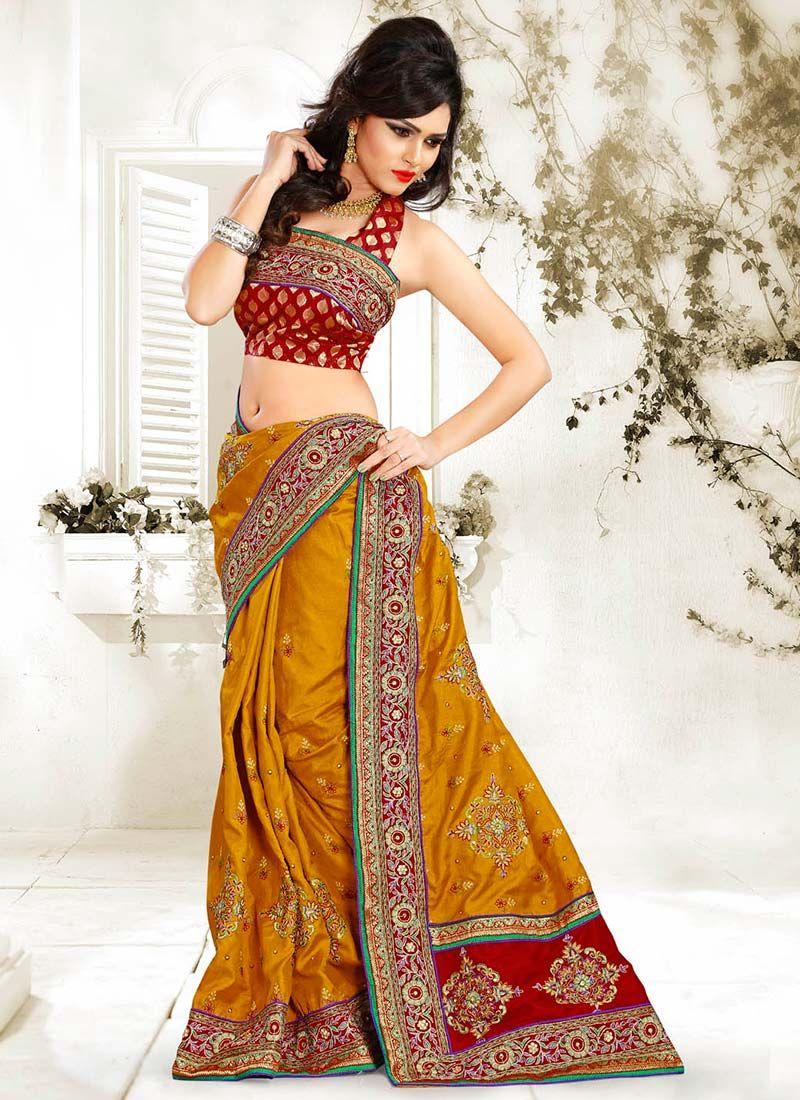 Brown Manipuri Silk Saree