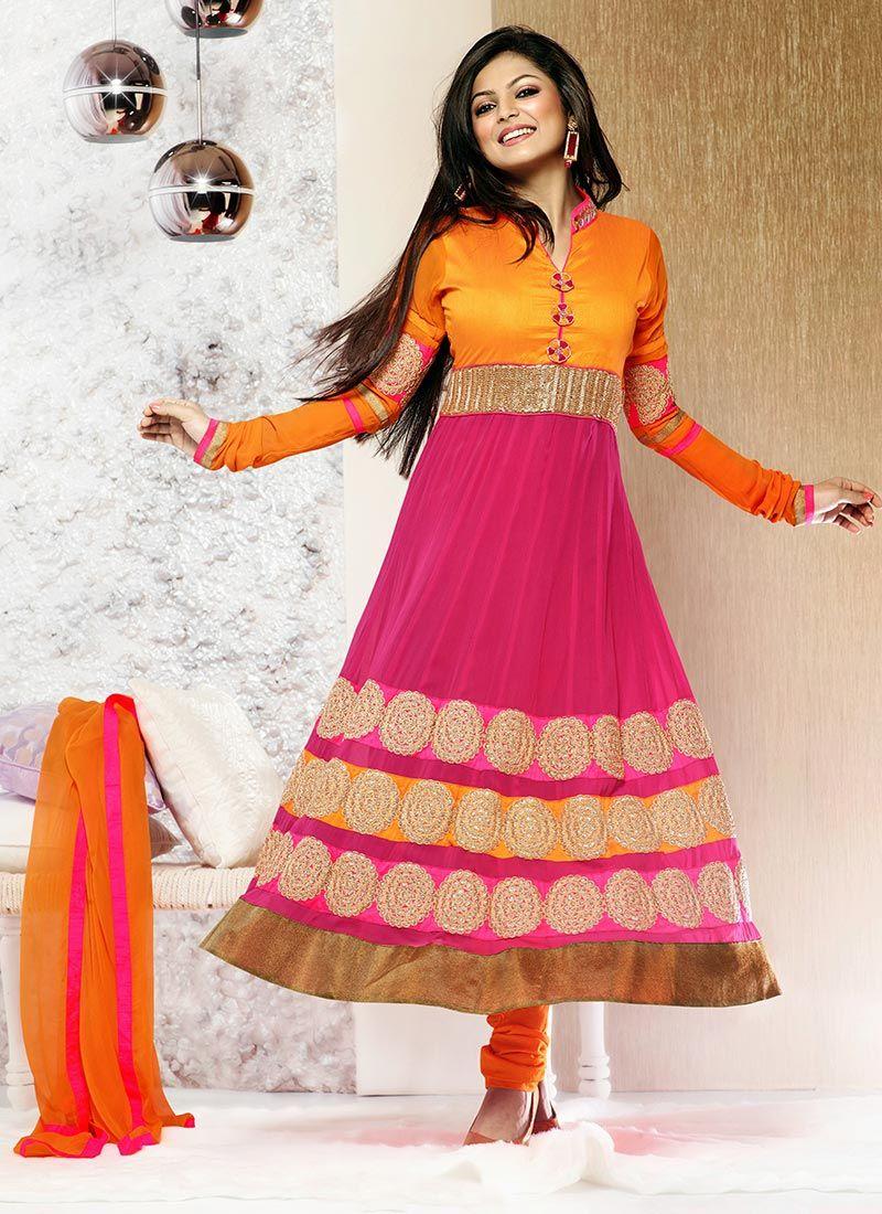 Madhubala Pink Anarkali Suit