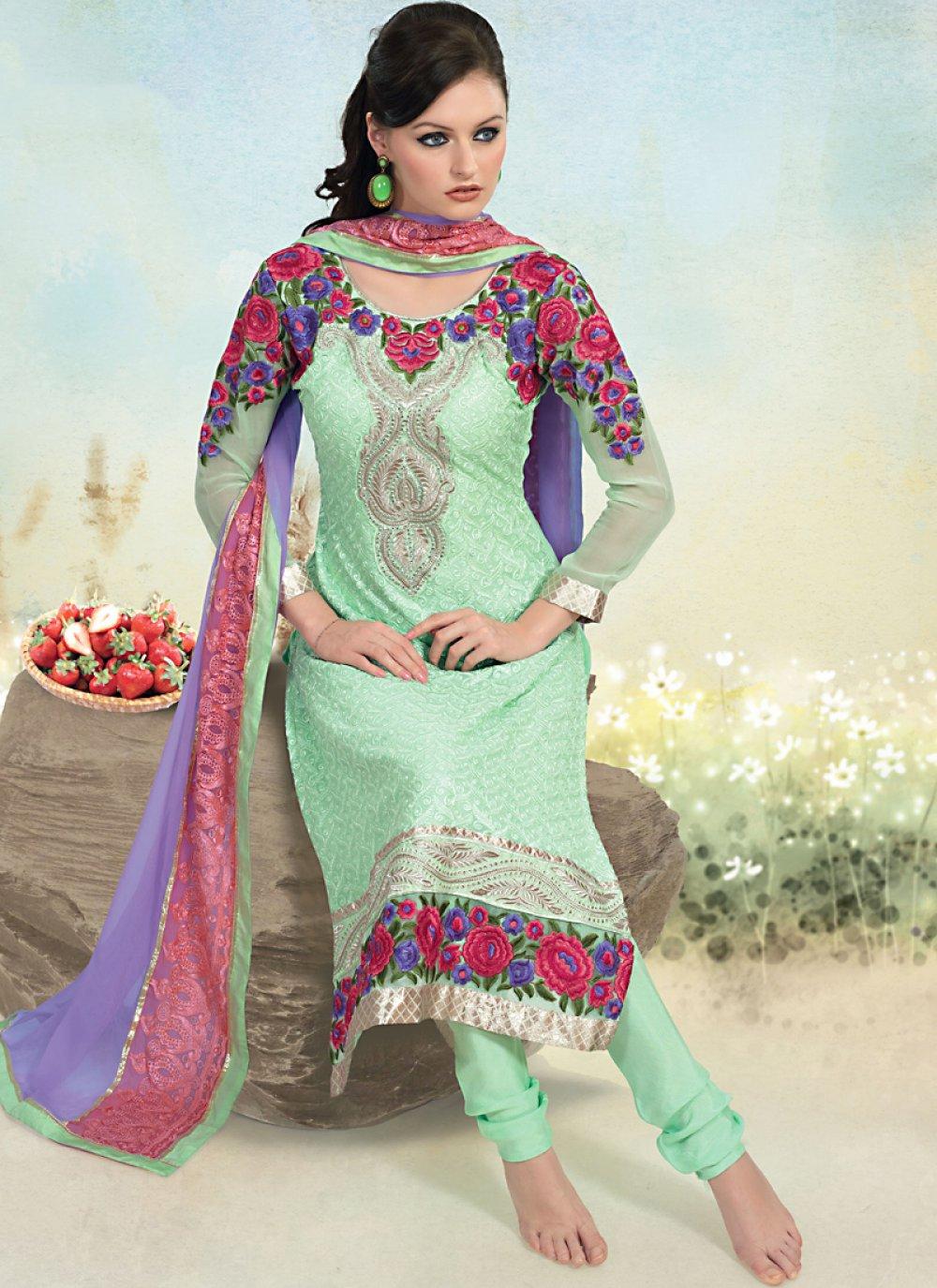 Mint Green Salwar Kameez
