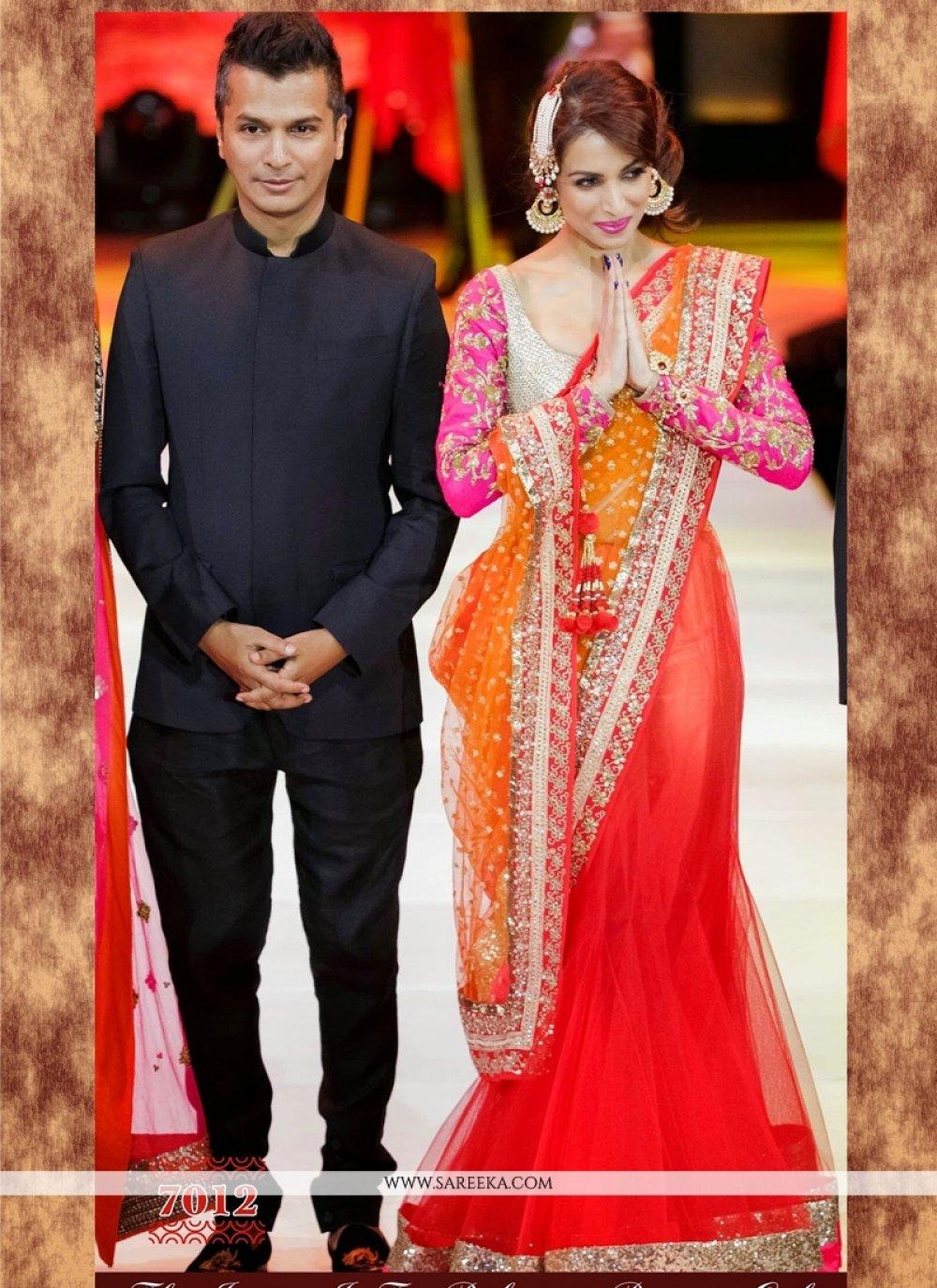 Malaika Arora Khan Lehenga Saree For Ceremonial