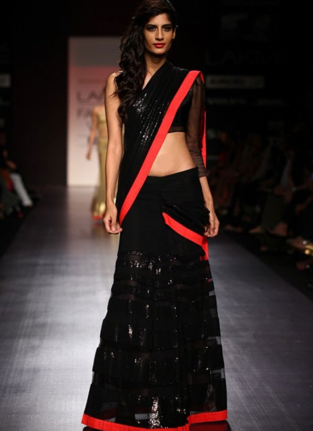 Black Embroidered Bollywood Saree