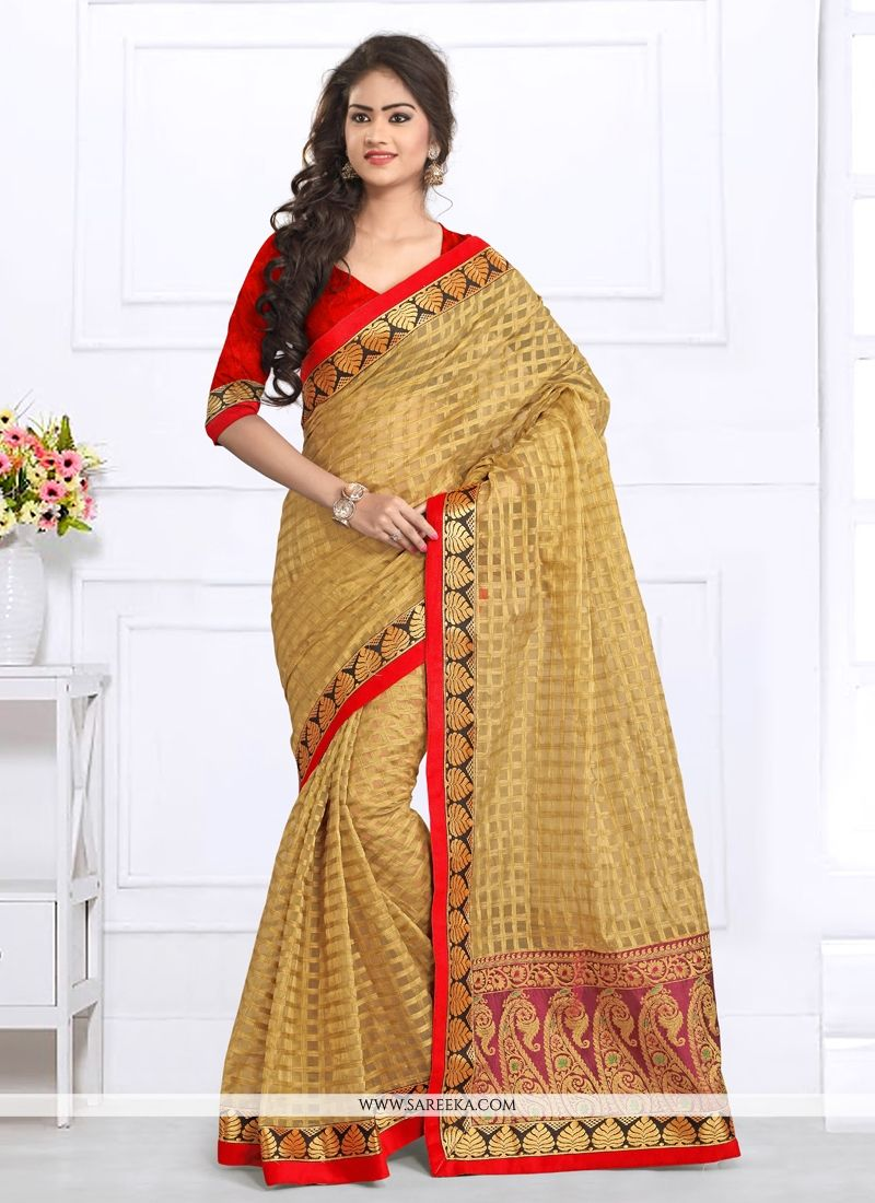 Patch Border Work Tissue Designer Saree