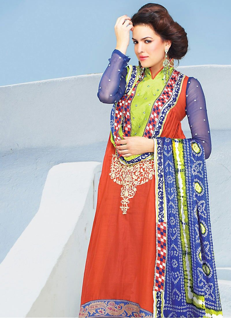 Faux Georgette Anarkali Suit