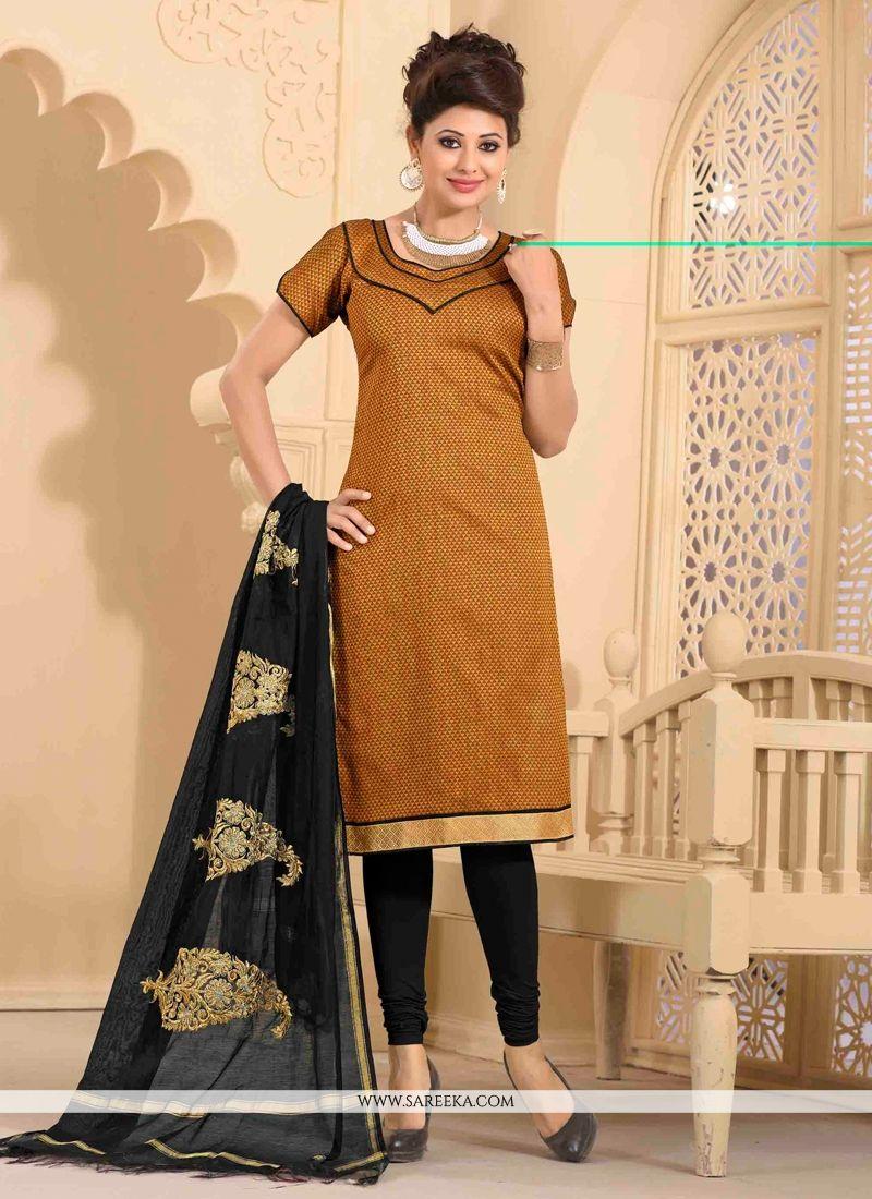 Jute Silk Churidar Salwar Kameez