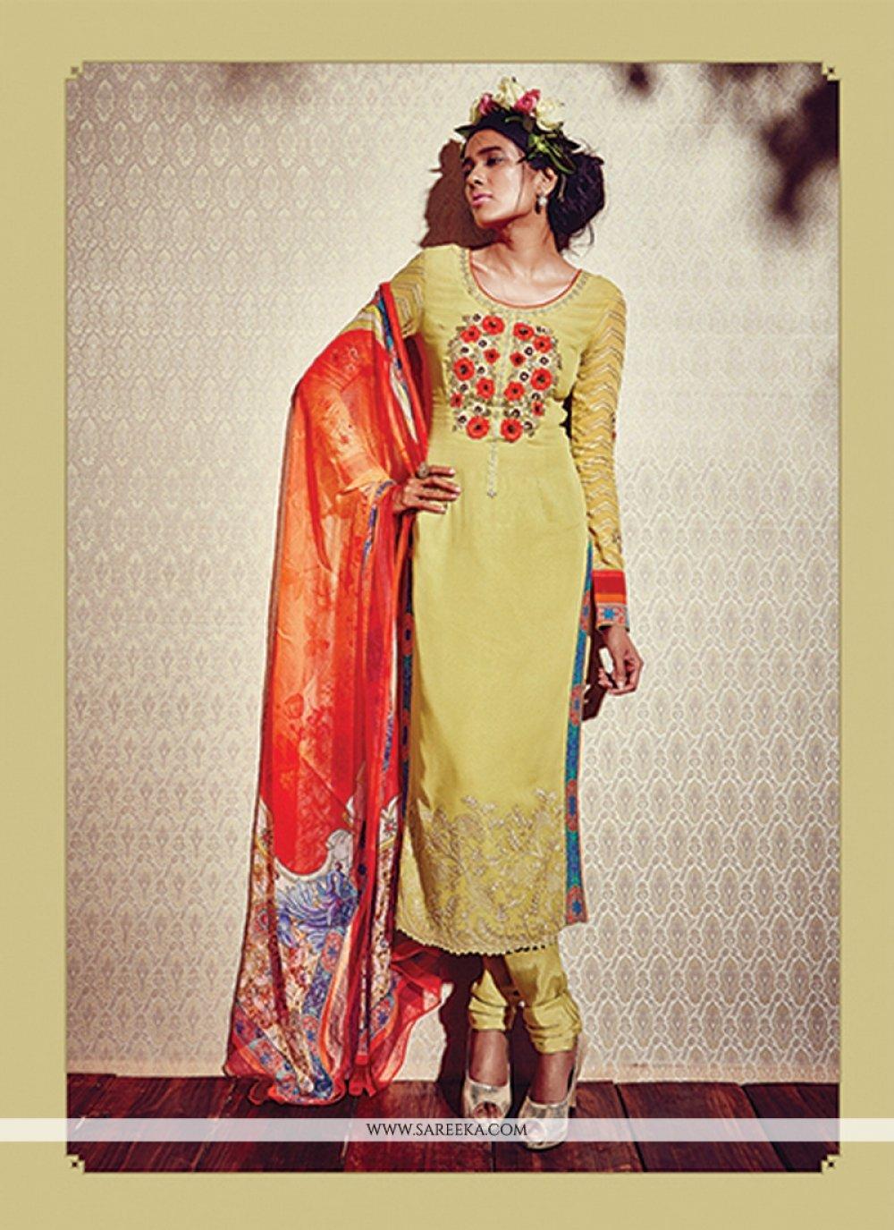Georgette Print Work Designer Suit