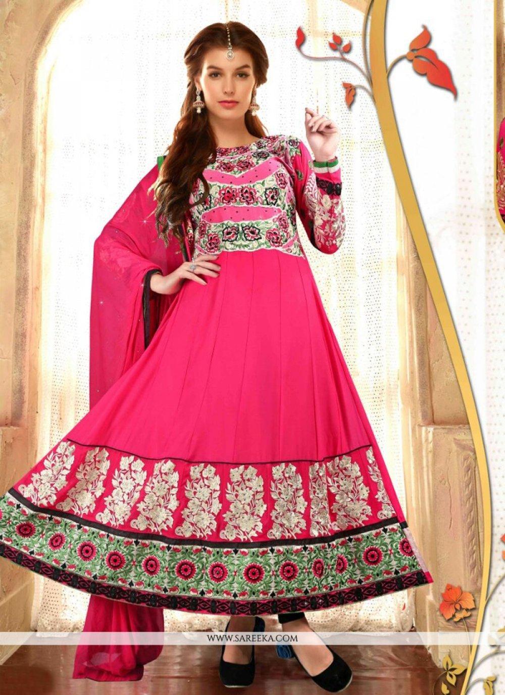 Hot Pink Anarkali Salwar Suit