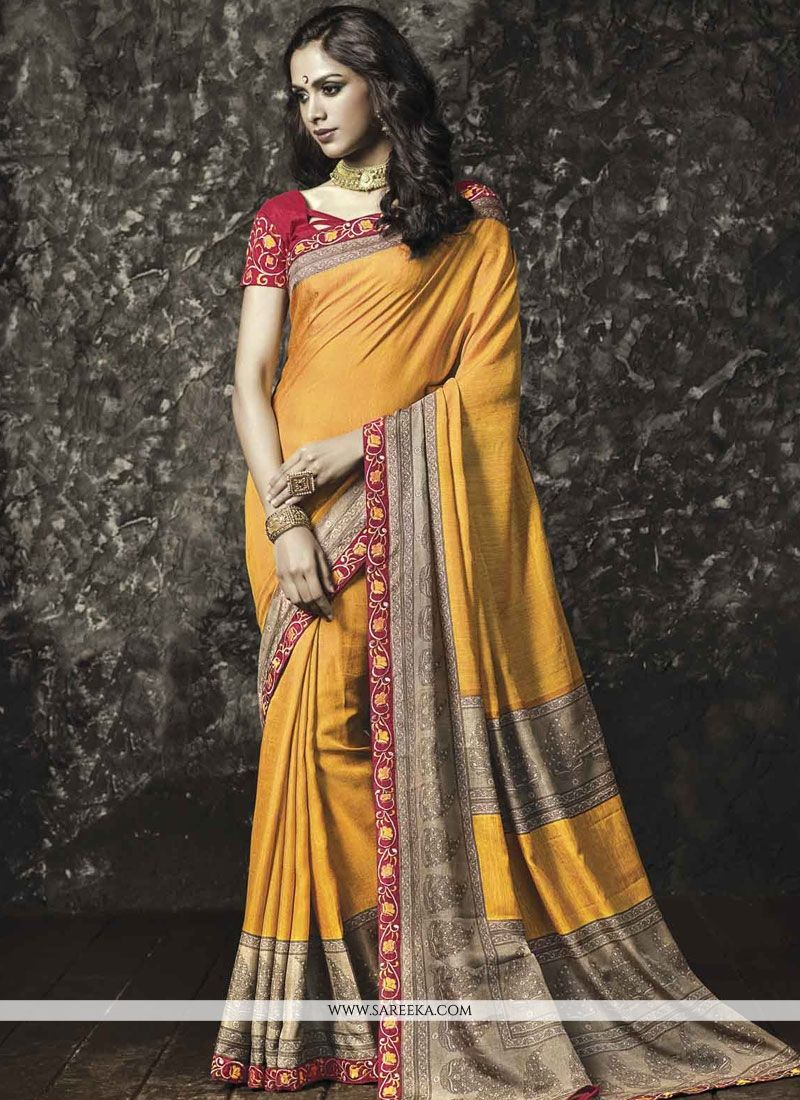 Lace Work Manipuri Silk Casual Saree