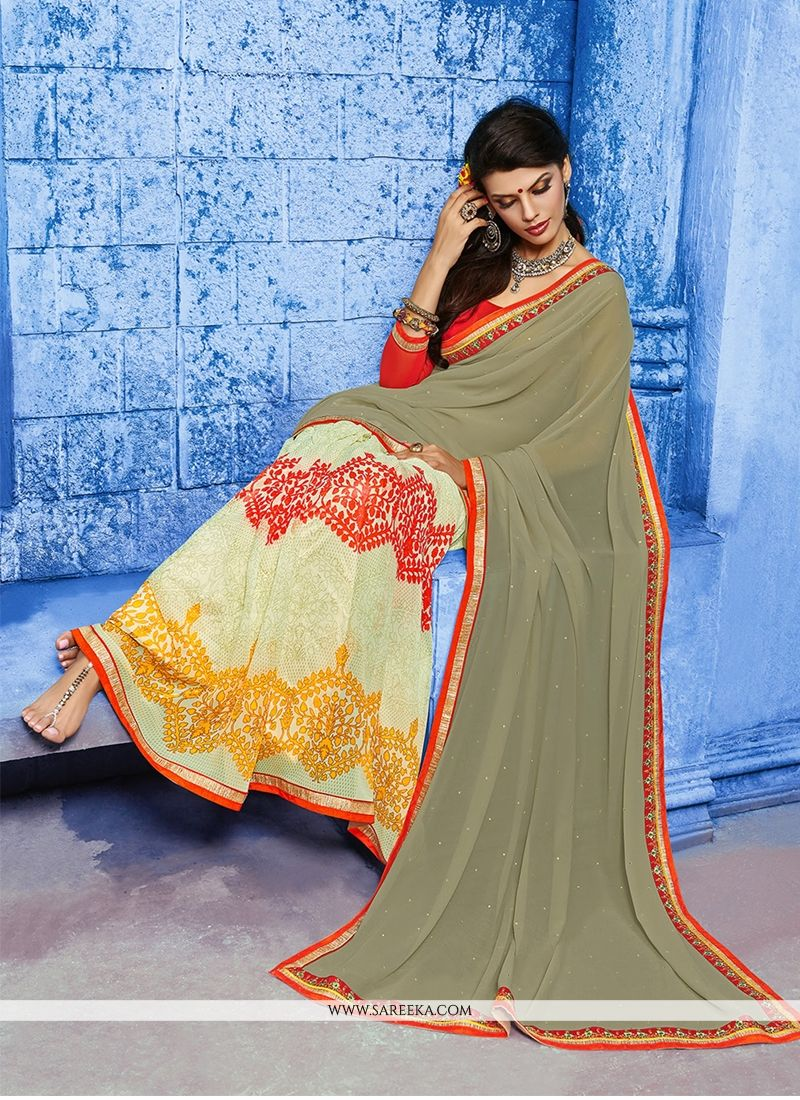 Weight Less Multi Colour Designer Saree