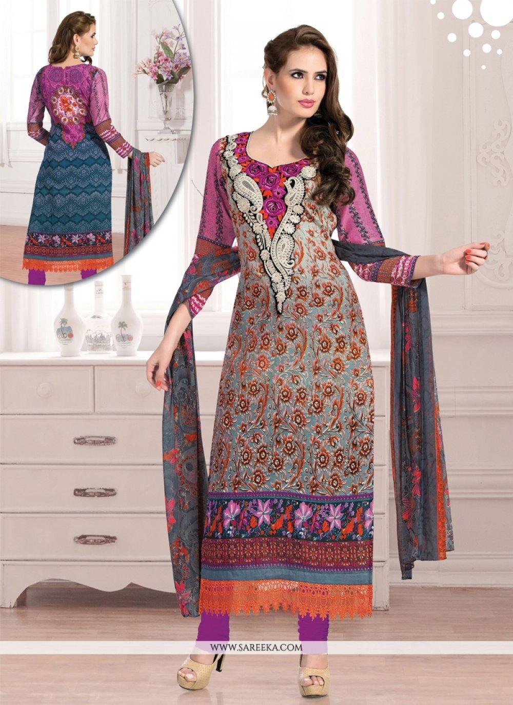 Multicolor Cotton Designer Pant Style Suit