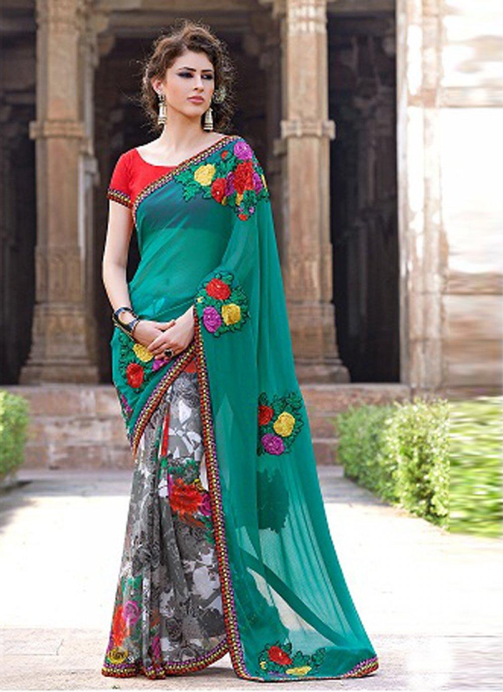 Multicolor Printed Casual Saree