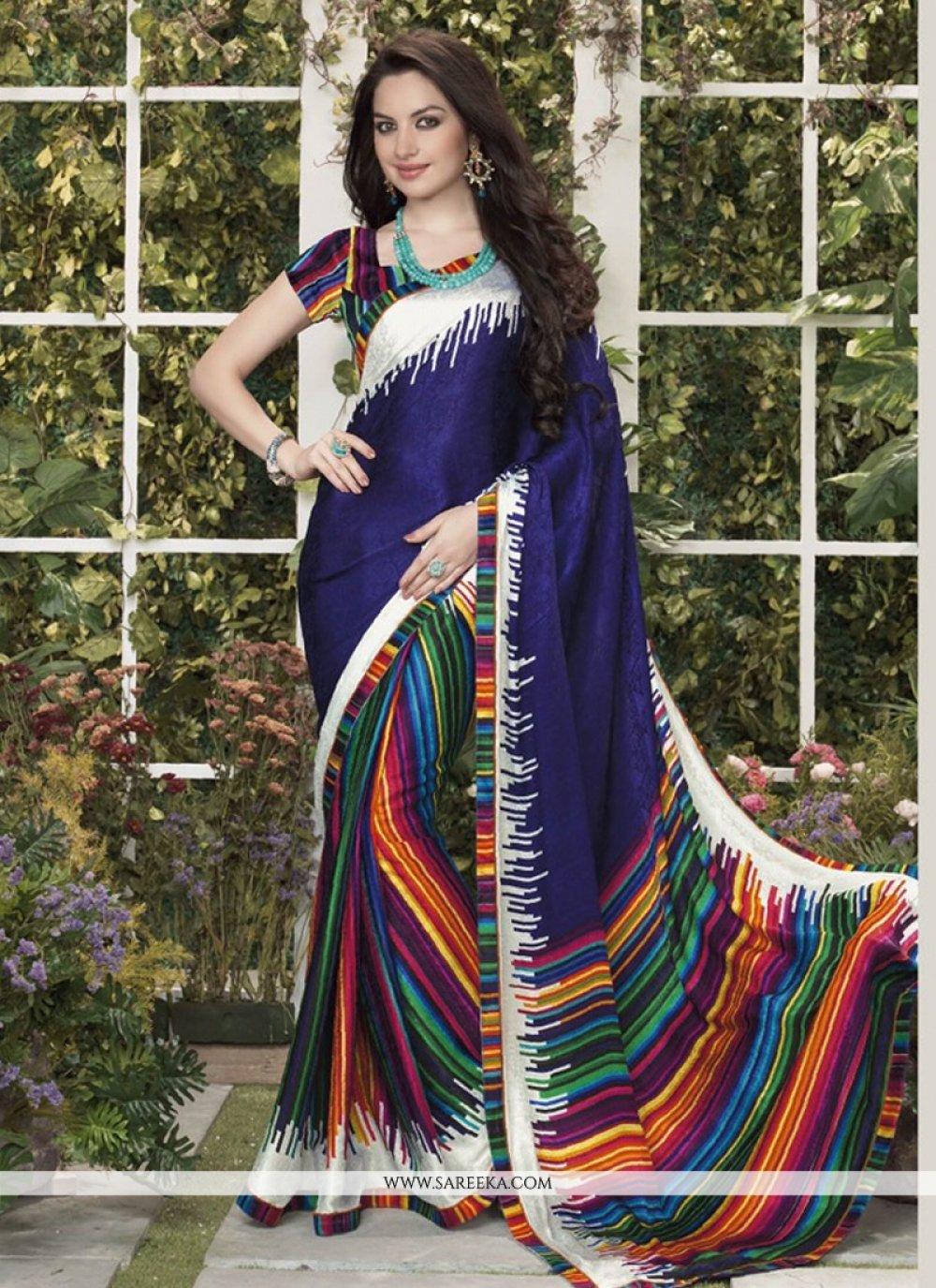 Multicolor Silk Jacquard Casual Saree