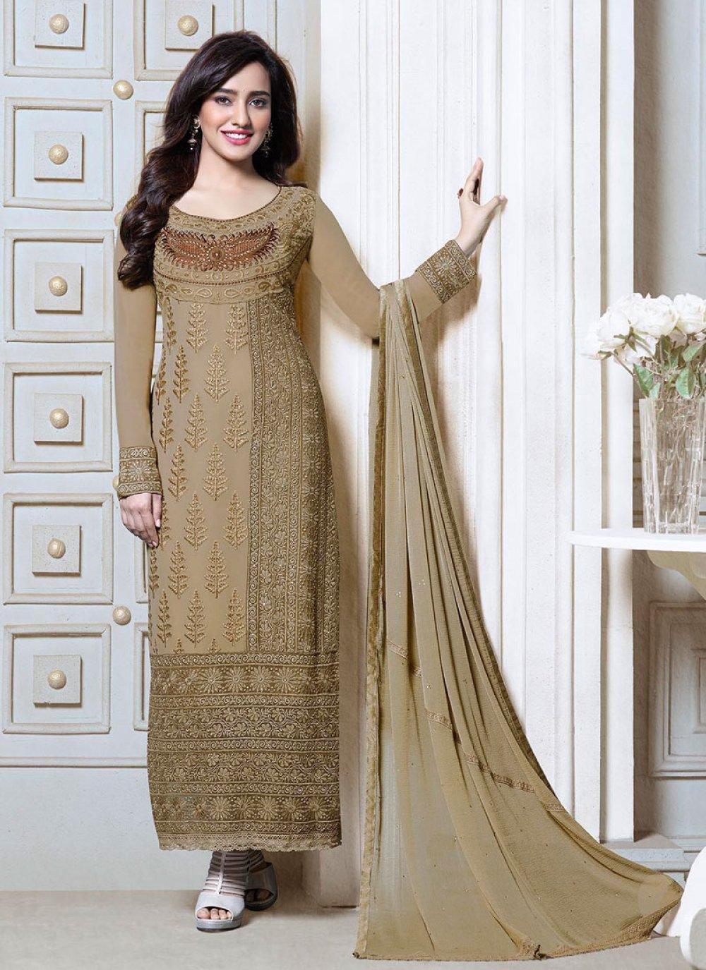Neha Sharma Embroidery Churidar Suit