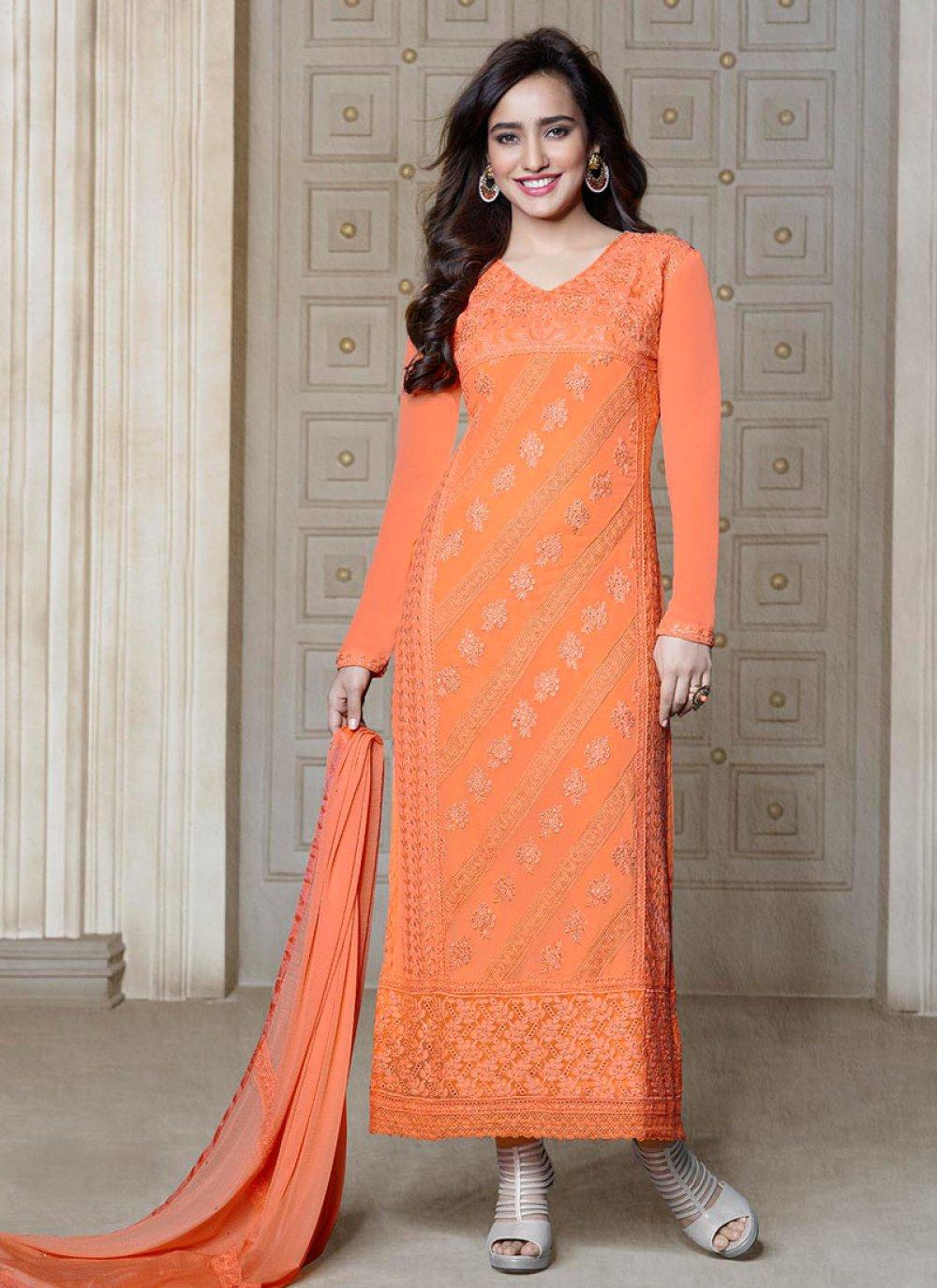 Neha Sharma Orange Salwar Suit
