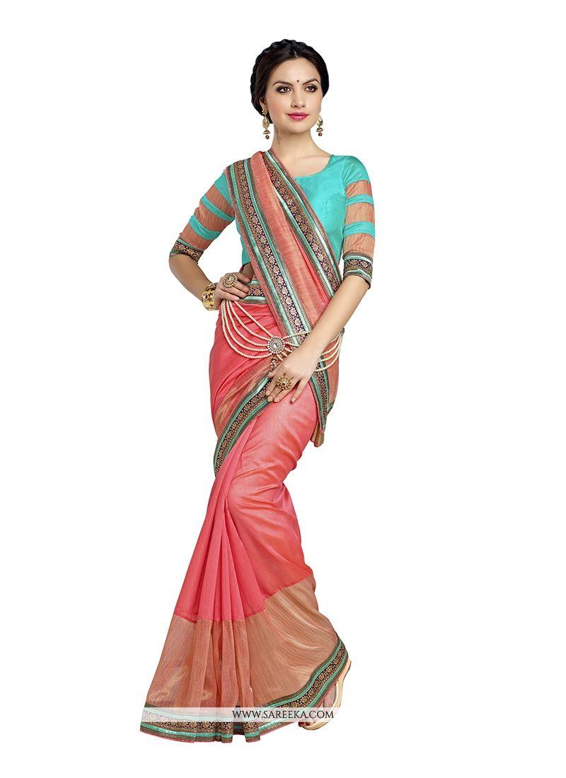 Banarasi Silk Patch Border Work Designer Saree