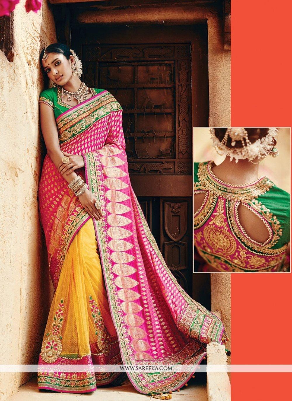Banarasi Silk Patch Border Work Classic Designer Saree