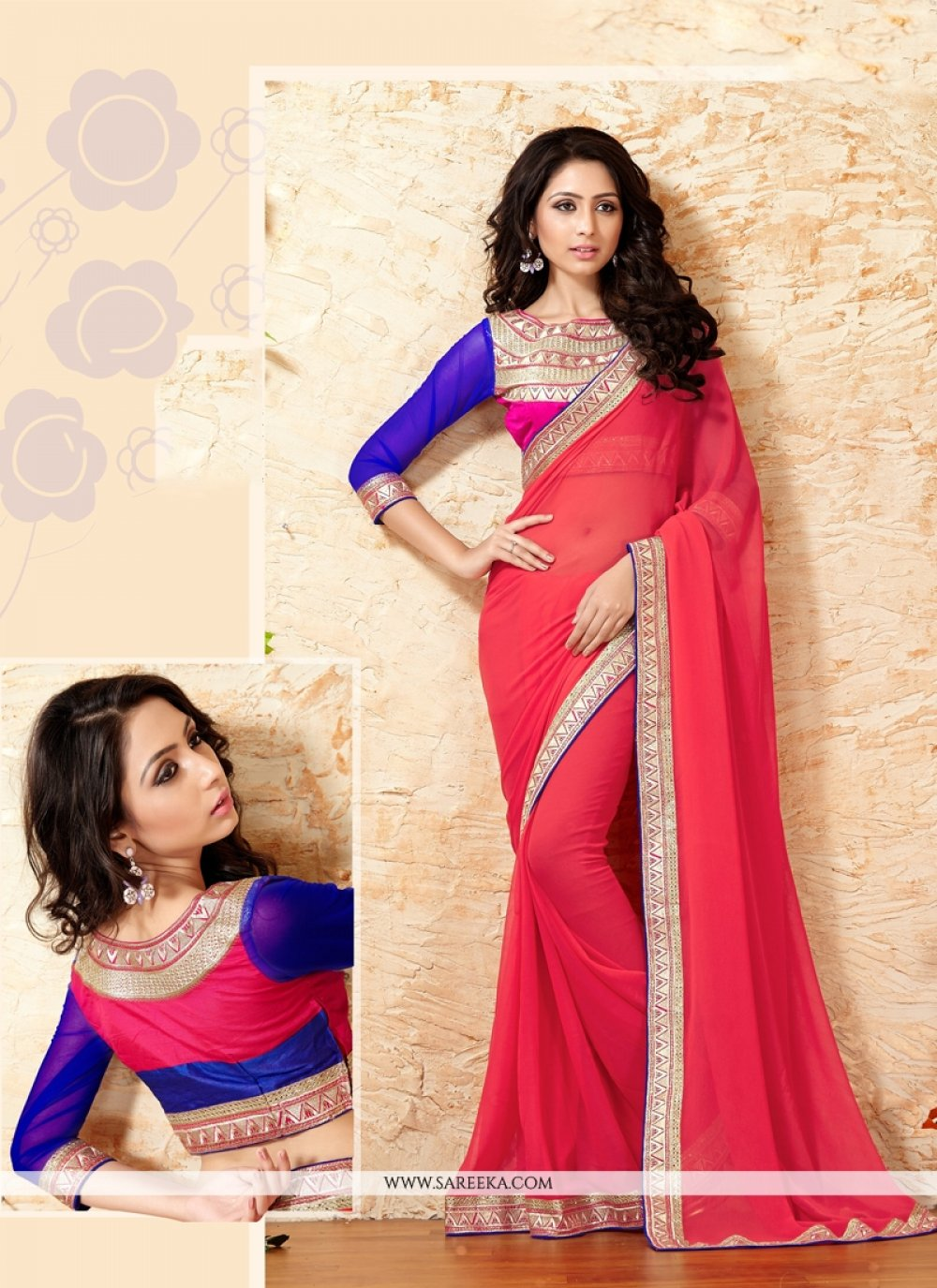 Lace Work Designer Saree