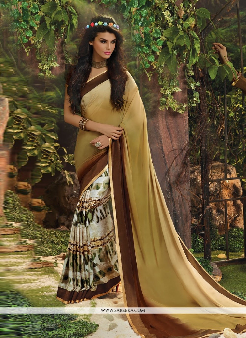 Beige Weight Less Casual Saree