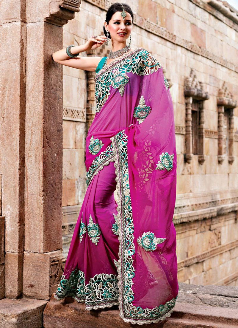 Cut Work Border Saree
