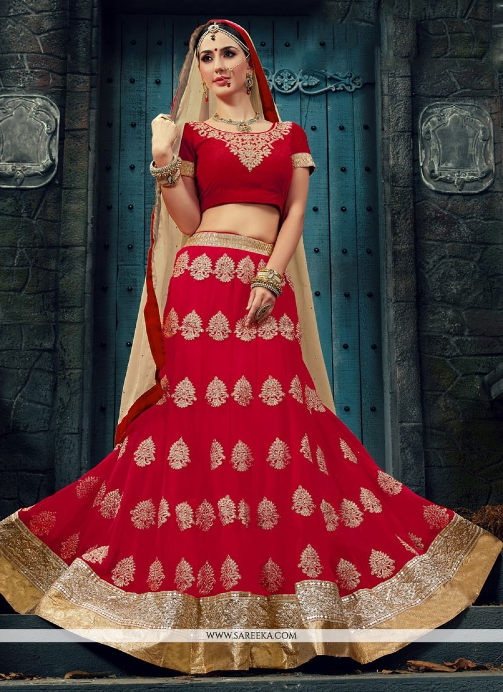 Hot Pink Embroidered Work Designer Lehenga Choli