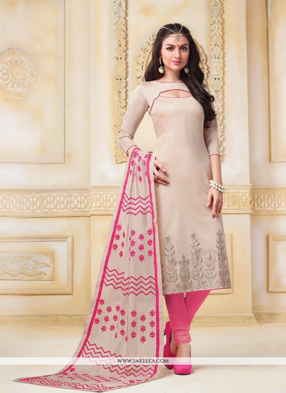 Banarasi Silk Resham Work Churidar Salwar Suit