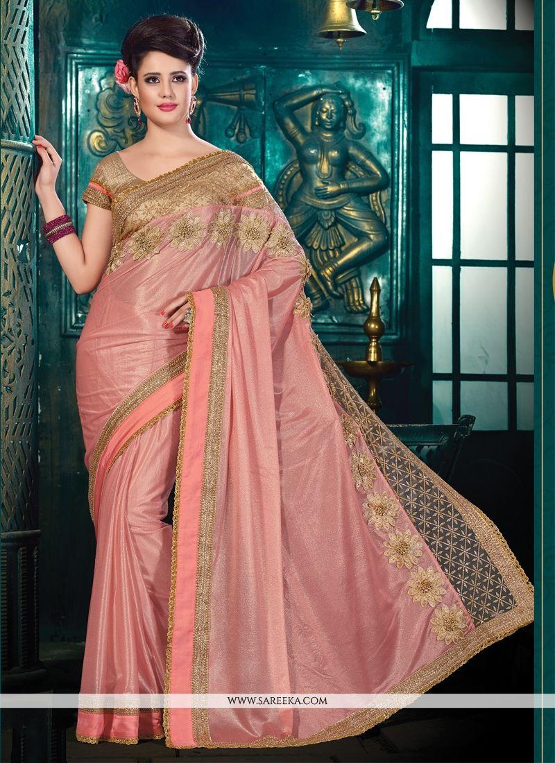 Lycra Embroidered Work Designer Saree