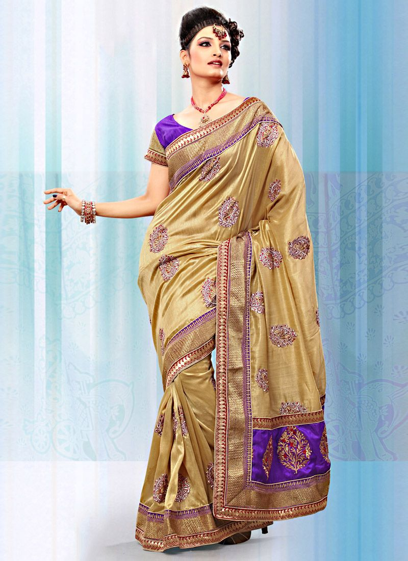 Beige Art Bhagalpuri Silk Saree