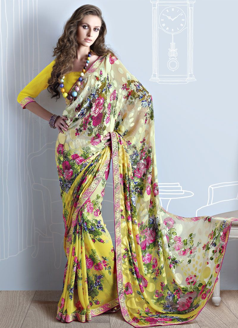 Yellow Brasso Saree