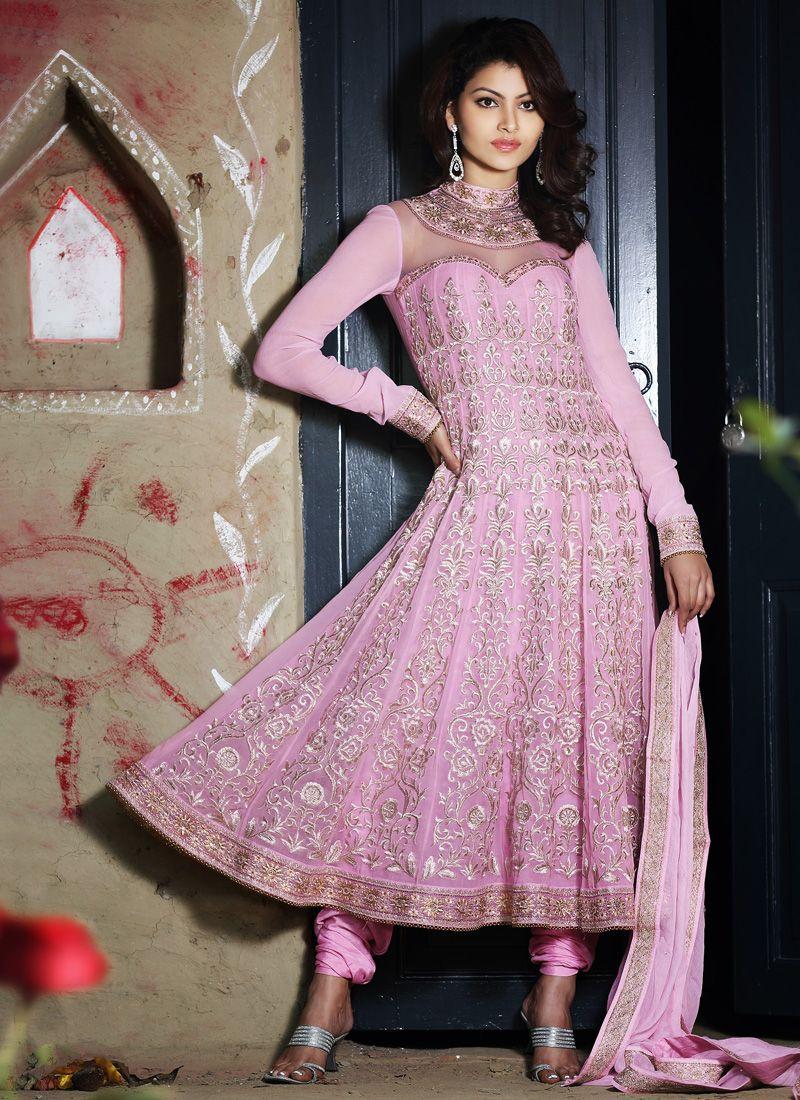 83ae4a9176 Plushy Pale Deep Pink Salwar Kameez -