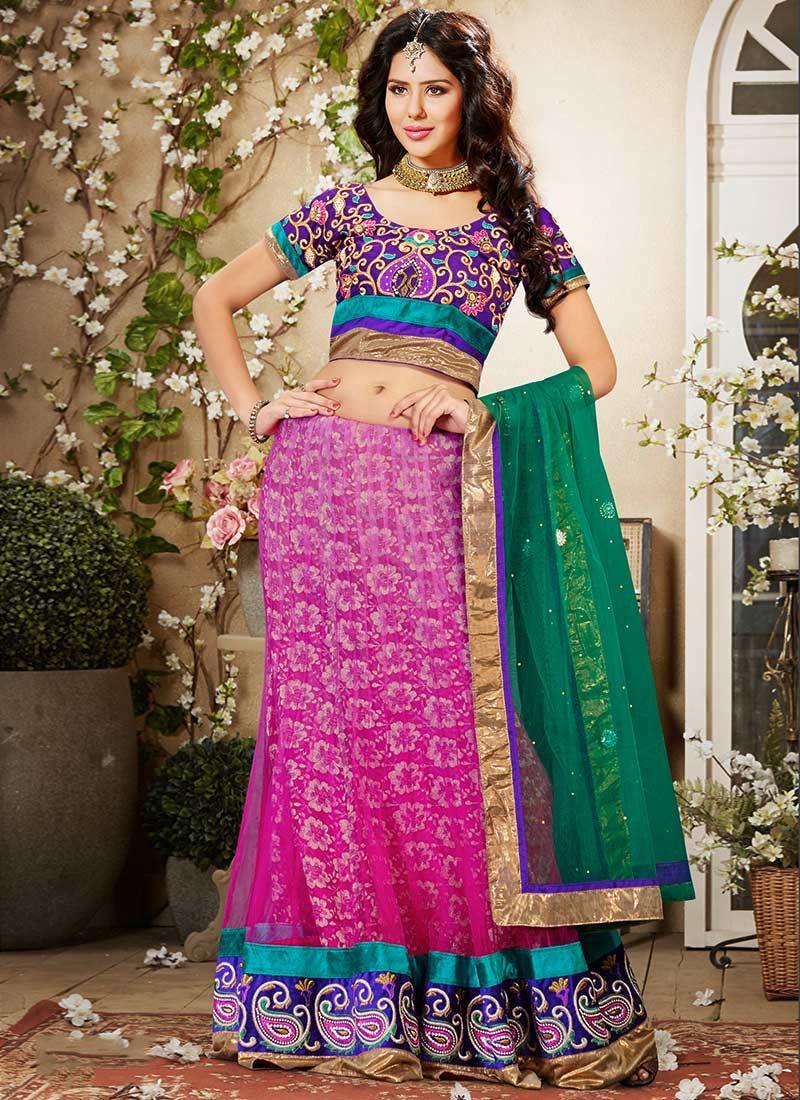Preety Pink Net Lehenga Choli