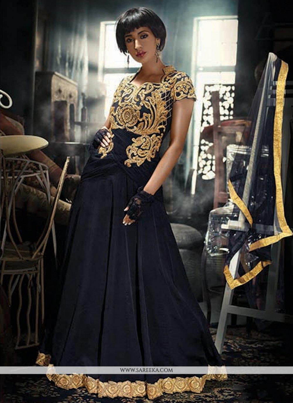 Net Black Designer Gown