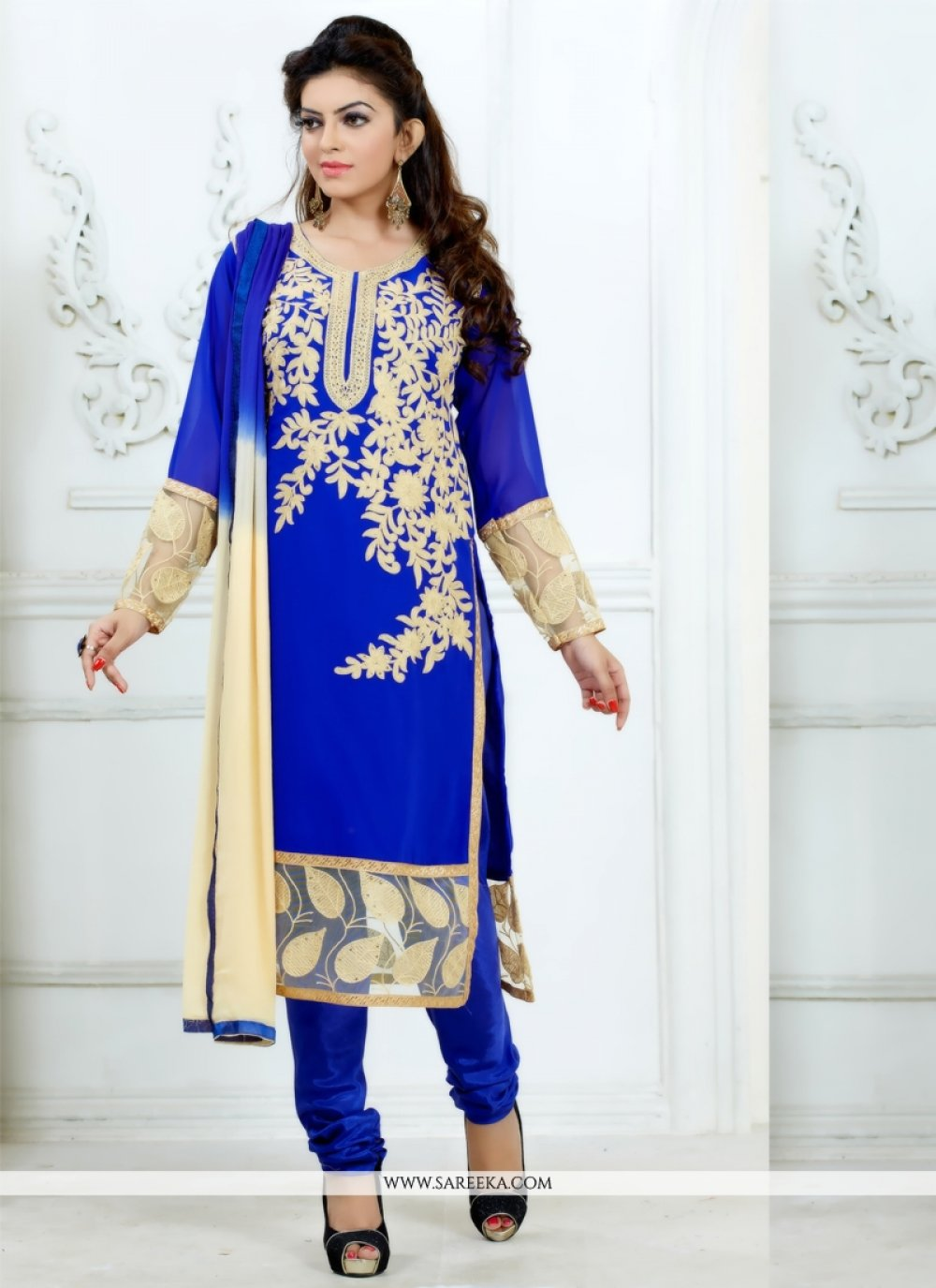 Georgette Churidar Salwar Suit
