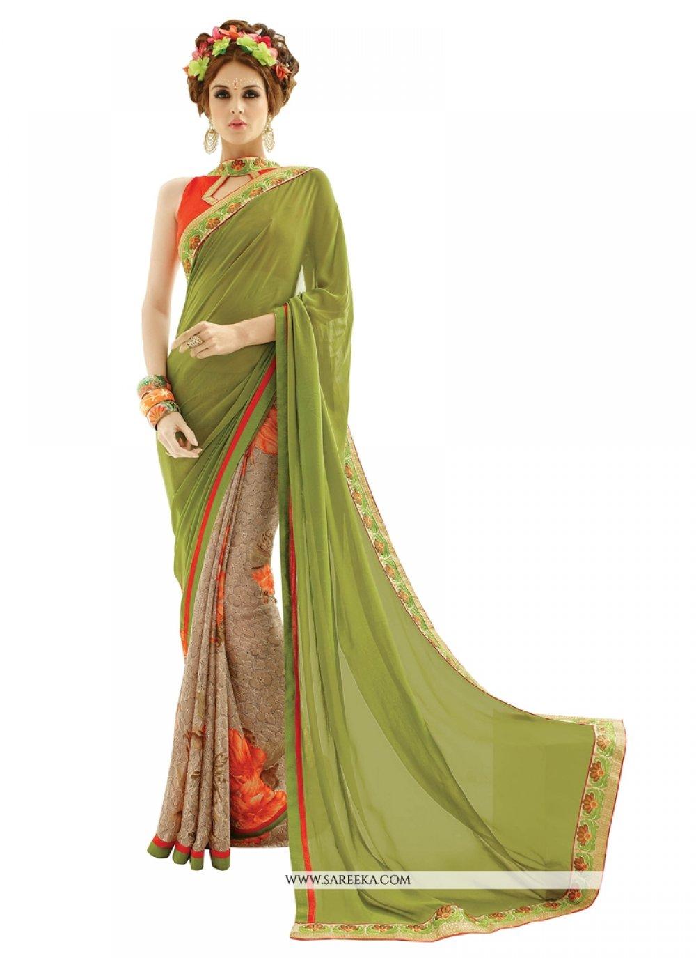Print Work Multi Colour Silk Casual Saree