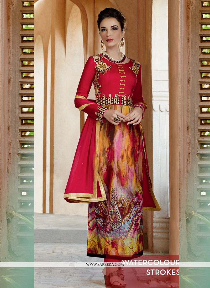 Georgette Print Work Salwar Suit