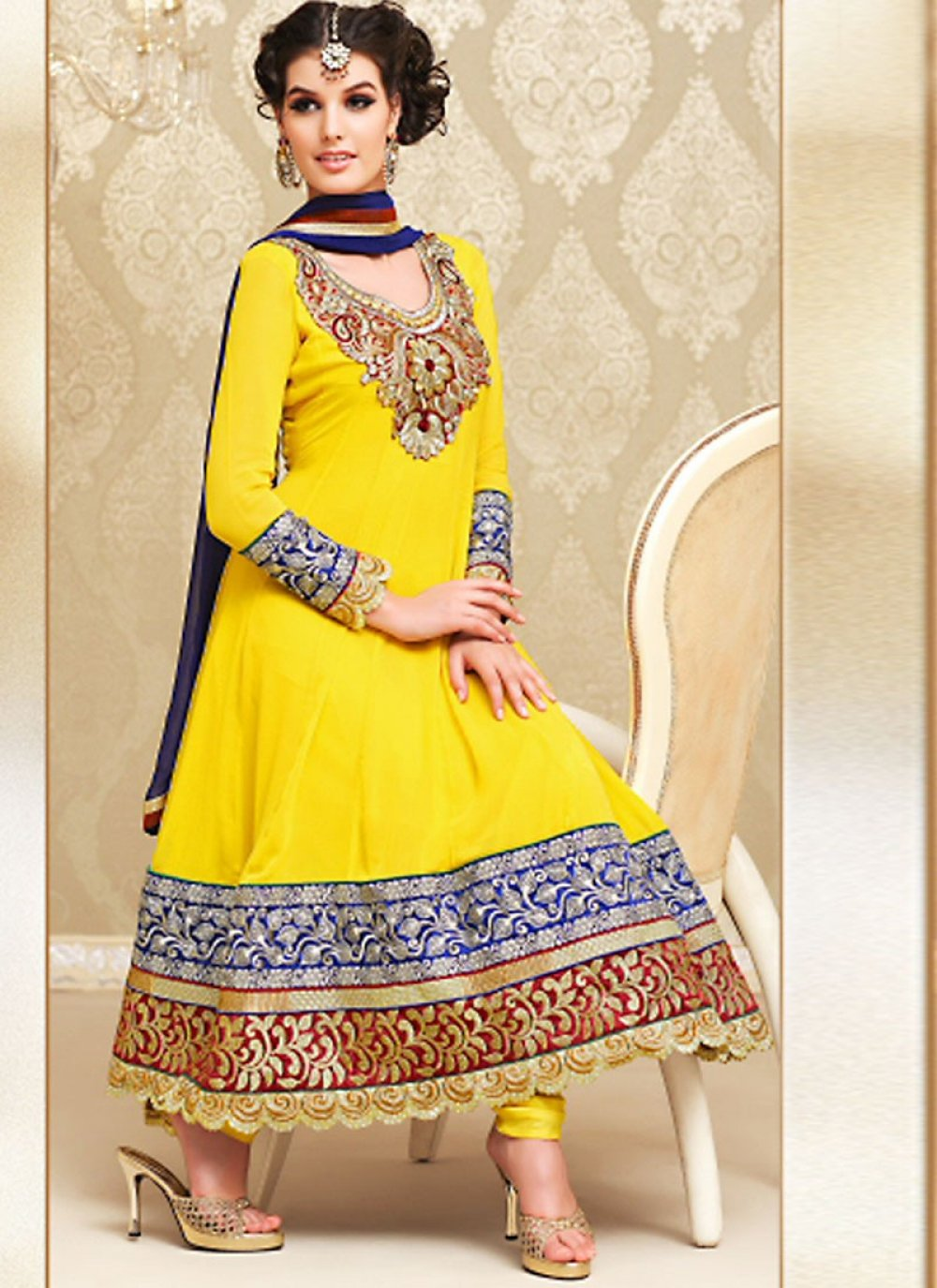 Gold Color Salwar Kameez