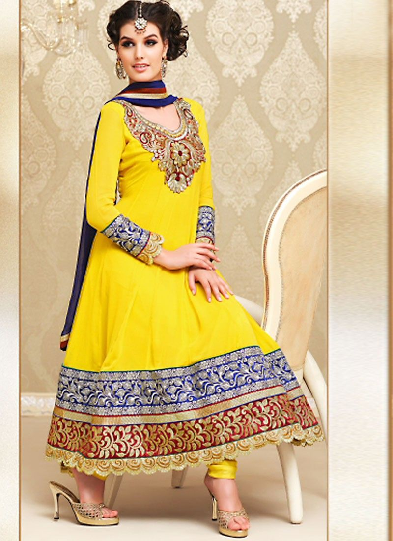 Gold Color Salwar Kameez