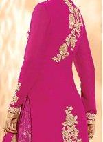 Georgette Hot Pink Designer Salwar Suit