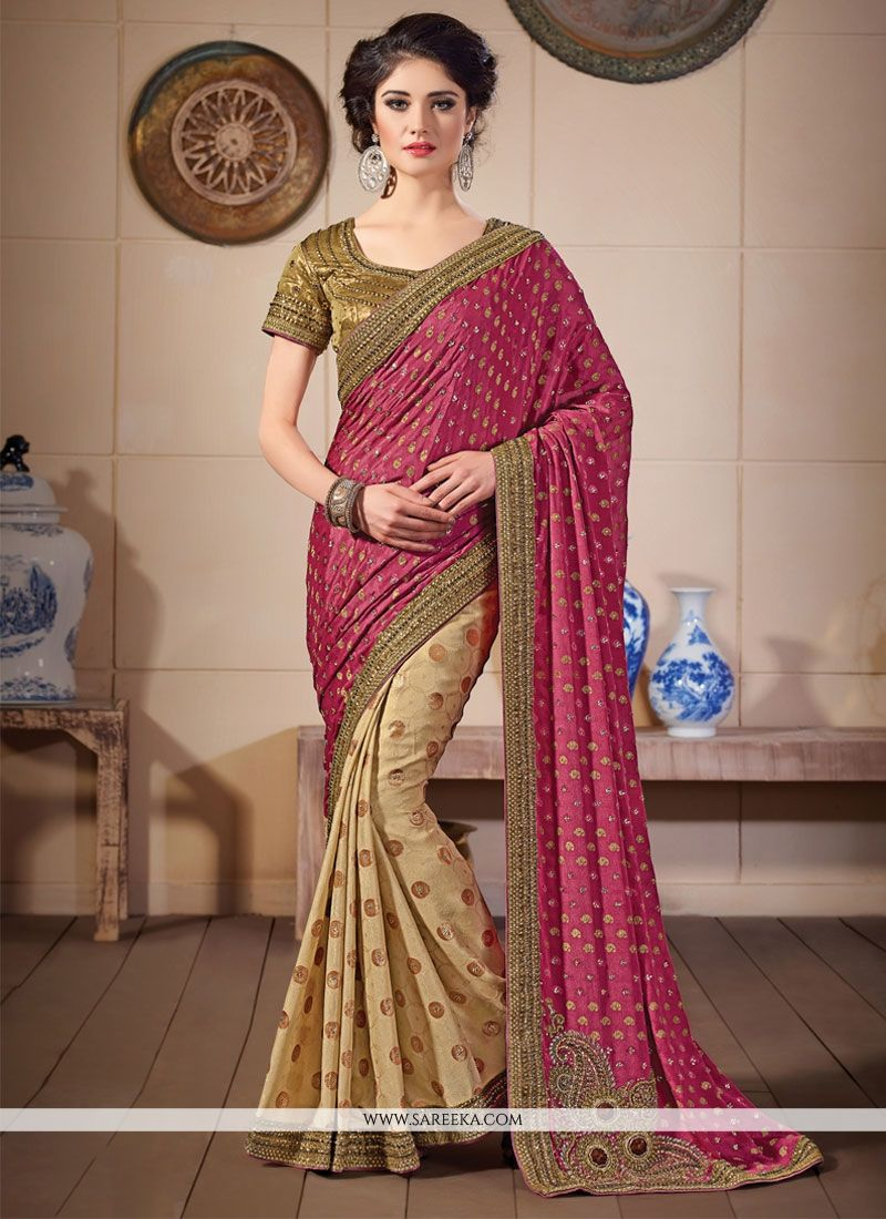 Khadi Patch Border Work Designer Saree