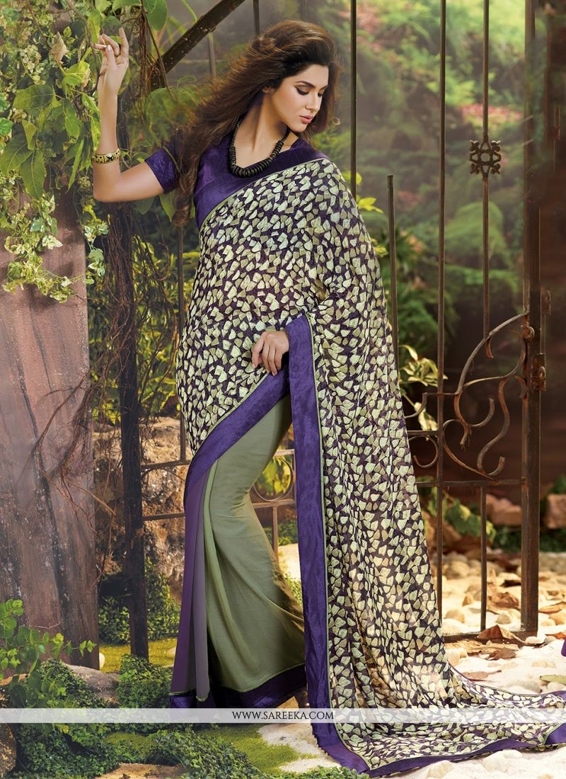 Lace Work Weight Less Casual Saree