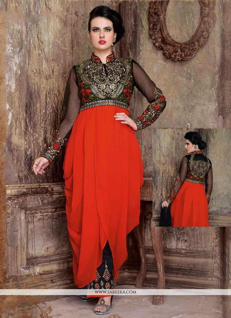 Red Designer Salwar Suit